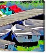 Boats Summer Vasona Park Canvas Print