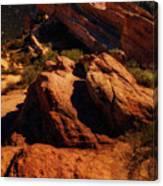 Vasquez Rocks And Stars Canvas Print