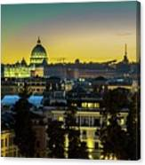 Vatican At Sunset Canvas Print