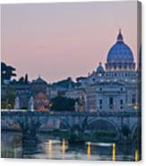 Vatican City At Sunset Canvas Print