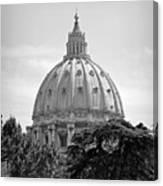 Vatican City Dome Canvas Print