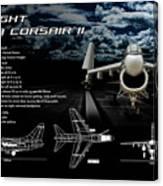 Vaught A-7a Corsair II Canvas Print