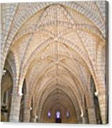 Vaulted Ceiling And Arches Canvas Print