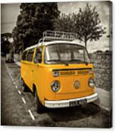 Vdub In Orange  Canvas Print