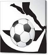 Vector Soccer Ball. Corner Kick Graphic Symbol Canvas Print