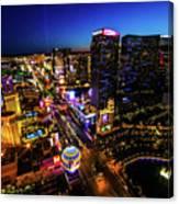 Vegas At Dusk Canvas Print