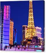 Vegas Strip At Night Canvas Print
