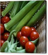 Vegetable Basket Canvas Print