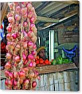 Vegetable Stand 2 Canvas Print