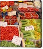 Vegetables At Italian Market Canvas Print