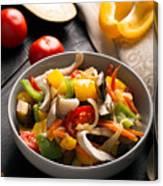 Vegetables Stir Fry Canvas Print