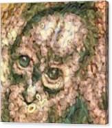 Vegged Out Monkey Canvas Print