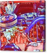 Vehicle Engine Close Up Canvas Print