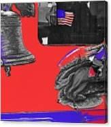 Vehicle Liberty Bell Paul Revere Flag Bicentennial Of Constitution Tucson Arizona 1987-2015 Canvas Print