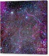 Vela Supernova Remnant In The Center Canvas Print