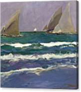 Velas En El Mar. Valencia Canvas Print