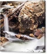 Velvet Falls - Rocky Mountain Stream Canvas Print