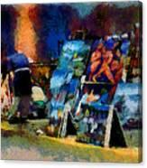 Vendedor De Pinturas Canvas Print