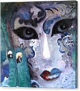 venetian carneval mask I Canvas Print