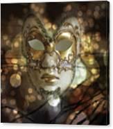 Venetian Golden Mask Canvas Print