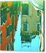 Venetian Mirror - Venice In Water Reflections Canvas Print