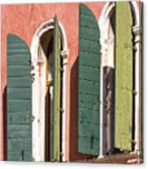 Venetian Windows Canvas Print
