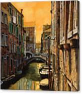 Venezia Al Tramonto Canvas Print