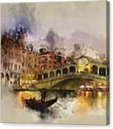 Venezia, Canal Grande Canvas Print