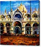 Venice - Pigeons On San Marco Square Canvas Print