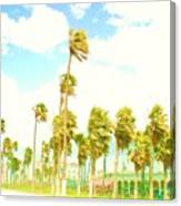 Venice Beach In Windy Pastels Canvas Print