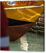 Venice Boat Closeup Canvas Print