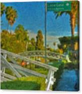 Venice Canal Bridge Signs Canvas Print