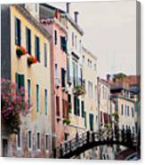 Venice Canal View Canvas Print