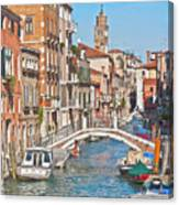 Venice Canaletto Bridging Canvas Print