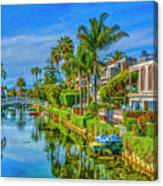 Venice Canals And Houses 4 Canvas Print