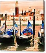 Venice, City Of Romance, Italy, Gondolas Canvas Print