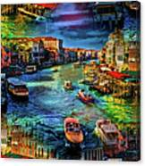 Venice Coming And Going Canvas Print