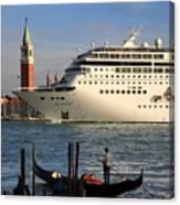 Venice Cruise Ship 2 Canvas Print