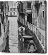 Venice Docked Boats Canvas Print