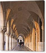 Venice - Doge's Palace Arcade Canvas Print