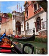 Venice From A Gondola Canvas Print