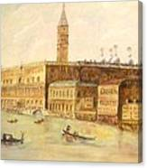 Venice From Grand Canal Canvas Print