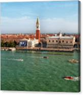 Venice Grand Canal And St Mark's Campanile Canvas Print