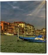 Venice Grand Canal God Sun Rays Canvas Print