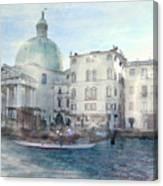 Venice Grand Canal Watercolour  Canvas Print