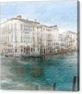 Venice Grand Canal Watercolour Painting Canvas Print