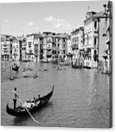 Venice In Black And White Canvas Print