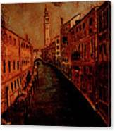 Venice In Golden Sunlight Canvas Print