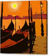 Venice In Orange Canvas Print