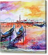 Venice Italy Gondola Ride Canvas Print